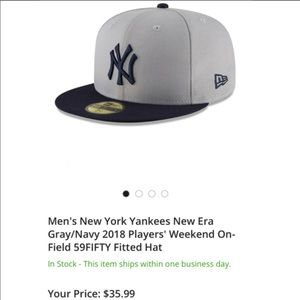 ⚾️NEW⚾️ NY Yankees New Era Gray/Navy fitted hat